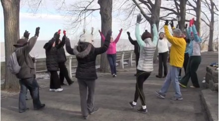 Winter warm up in Fort Tryon Park.
