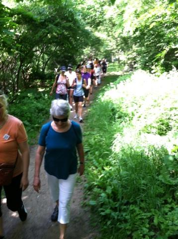 Our Green Gym Day 2014 group hike in lush, verdant Highbridge Park